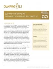 Guidance on Interpreting Sustainable Development Goal Target 12.3 cover